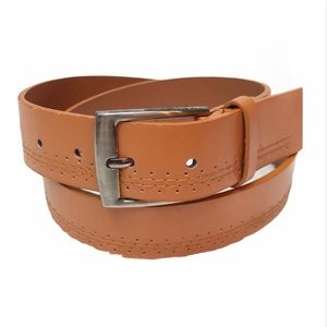 rue21 etc PVC Perforated Brown Belt size S